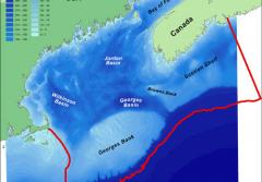 The study area for the Gulf of Maine Area project, part of the Census of Marine Life.