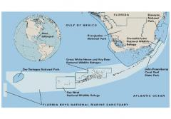 The Florida Keys National Marine Sanctuary encompasses several state parks and wildlife refuges.