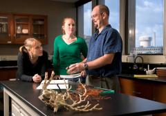 Dr. Brendan Roark discusses different methods of sampling deep-sea corals with undergraduate students at Texas A&M University.
