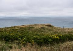 The Block Island wind farm is the first operational offshore wind farm in the United States. It consists of five wind turbines which powered up in December 2016 and were connected to the mainland energy grid in May 2017.