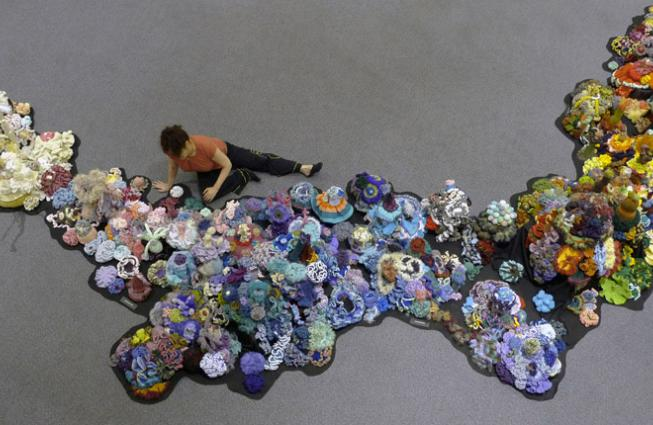 The People's Reef--Part of the Hyperbolic Crochet Coral Reef
