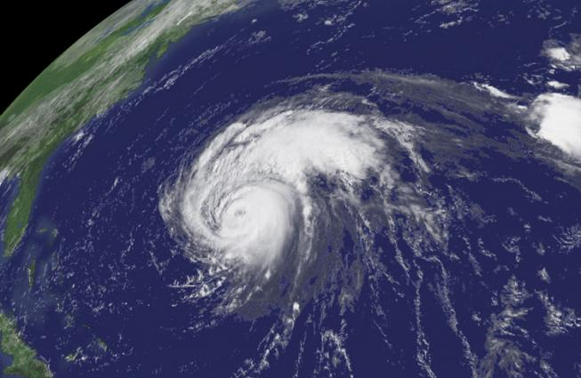 Aerial image of Hurricane Bill
