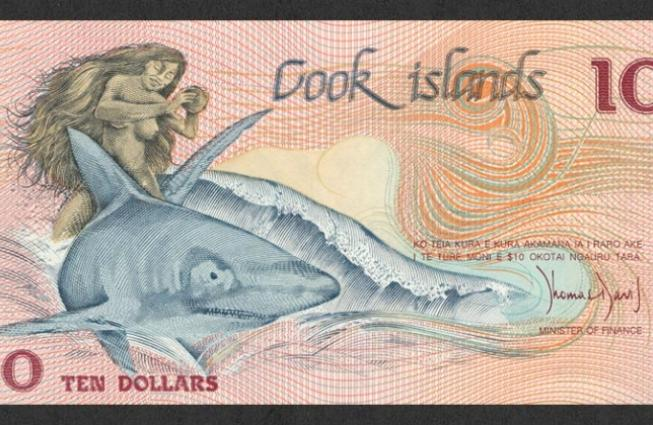 The Cook islands banknote